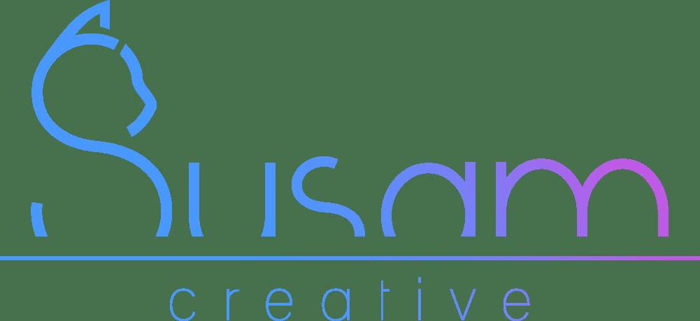 susam, horizontal separator, creative blue purple gradient color